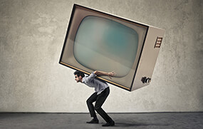 how to move a heavy tv